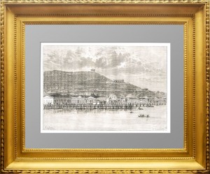 Крым. Вид на Керчь и гору Митридат.1880г. Тейлор.  Старинная гравюра