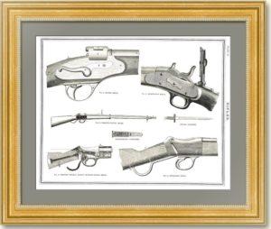 Легендарные винтовки XIX века. Английская гравюра на дереве. 1890г. Подарок охотнику