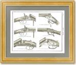 Легендарные ружья XIX века. Английская гравюра на дереве. 1890г. Подарок охотнику