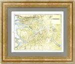 Старинный план Санкт-Петербурга. 1890г. Антикварный подарок руководителю или партнёру