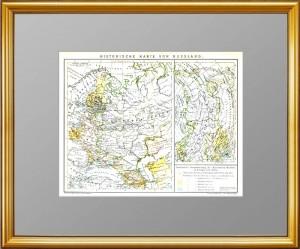 Историческая карта роста Российской империи со времён Петера I. 1896г. Подарок патриоту