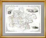 Независимая Тартария (Казахстан, Туркменистан, Узбекистан...) 1851г. Таллис. Старинная карта