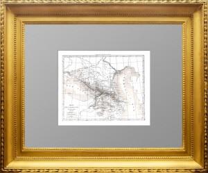 Старинная карта Кавказа. 1838г. Дювотне. Париж