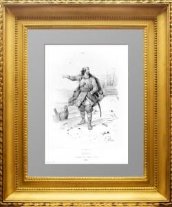 Рюрик, основатель Российской империи. 1859г. Адам. Старинная литография
