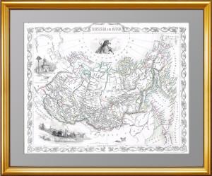 Карта азиатских  владений Российской империи. 1854. Таллис.
