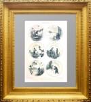 Картинки крестьянской жизни. 1895г. Н.Н. Каразин.  Антикварная литография