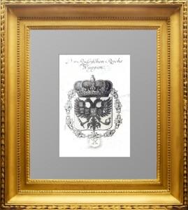 Герб Российской империи. 1749г. Редкость. Старинная гравюра, подарок в кабинет