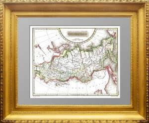Азиатская часть Российской империи. 1823г. Арроусмит. Гравюра на меди