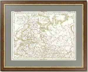 Европейская Россия. Север (вкл. Финляндию, Прибалтику). 1831г. Деламарш. Старинная карта