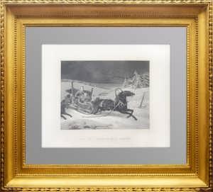 Нападение волков на русскую семью. 1850г. Шопeн