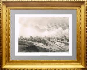 Астрахань. 1853г. Антикварная гравюра. C рисунка братьев Чернецовых.
