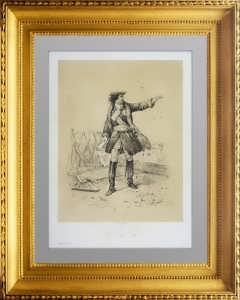 Пётр I. Царь России. Литография. 1859г. Антикварный подарок для патриота в кабинет