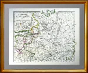 1861г. Европейская Россия по Штилеру. Север. Старинная карта. Подарок руководителю в кабинет