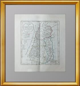 Иудея или Святая Земля. 1795г. Роберт Вогонди. Старинная оригинальная карта Израиля