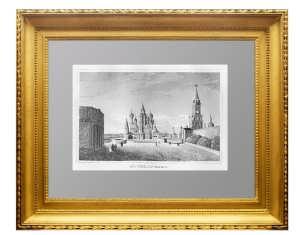 Московский Кремль и собор Василия Блаженного.  1837г. Лавров/Штральхайм