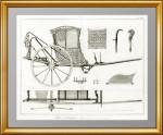 Каретное искусство. 1776г. Одноместный экипаж. Лист XIV. Дидро. ВИП подарок