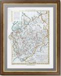 Карта европейской части РОССИИ. 1781г. Бонне. Антикварный подарок патриоту - старинная карта