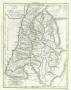 Святая Земля. Палестина. Израиль. 1820г. Шанлире. Антикварная карта. Pаскраска акварелью