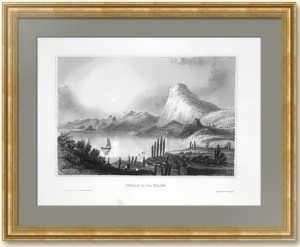 Крым. Судак. 1860г.  Маер. Антикварная гравюра середины 19 века