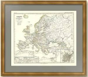 Европа и Отечественная Война 1812 года. План Москвы 1810 года.  Шпpунер. Старинная карта