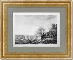 .Бородинo. Старинная гравюра. 1817г. Куше. Антикварный музейный VIP подарок в кабинет