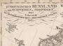Европейская Россия, Швеция и Норвегия. 1833г. Антикварная карта в подарок руководителю