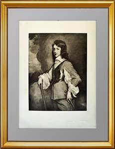 Эрмитажная коллекция.  Портрет Вильгельма II Оранского. XIX век. Редкая гравюра