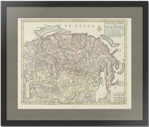 Россия в Азии или Новая Карта Тартарии. 1731г. Тирион. Антикварный подарок руководителю