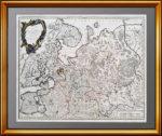 1757г. Северная Часть европейской России. Вогонди. Музейный антикварный подарок