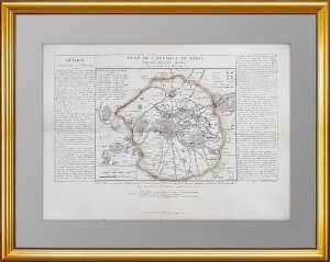 План Парижа 1814г. с расположением российских войск. Тардьё. Антикварный ВИП подарок
