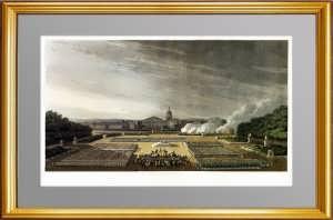 Русская армия в Париже в 1814 годy. Акватинта. Музейный эксклюзивный VIP подарок