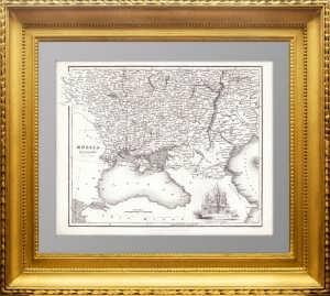 Россия в Европе (южная часть) 1836г. Фуллартон