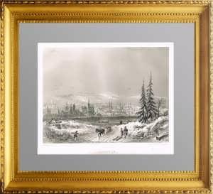 Иркутск. 1853г. Руарг. Гравюра на стали - - антикварный подарок