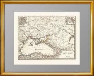 Черное море и Крым античные. Сарматия. Старинная карта. 1865г. Шпрунер/Менке