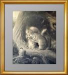 1870г. Две белки и птичка. Ландсир. Mеццо-тинто. Подарок охотнику