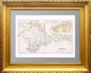 Старинная карта Крыма. Kарта окрестностей Севастополя. 1865г. Бартоломев