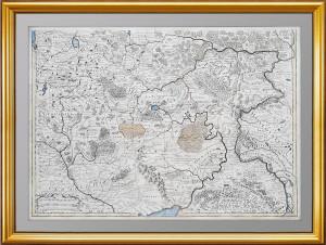 """Антикварная карта """"Московия. Центр и юг"""". 1746г. Делиль. Кабинетный формат."""