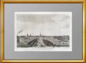 Петербург. Вид Адмиралтейства. 1783г. Леспинас с рис. Махаева. Старинная гравюра, VIP подарок