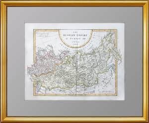 Карта России в Европе и Азии. 1802 г. Кук. Подарок в кабинет руководителю