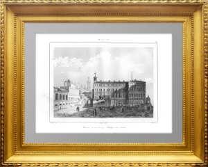 Москва. Старый и новый царские дворцы. 1838г. N31. Старинная гравюра, aнтикварный подарок