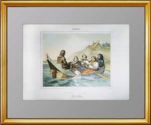 Русский альбом. Баркаролла. 1840г.  Дациаро. Антикварная редкая литография