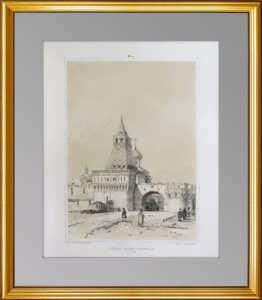 Москва. Кремль. Никольские ворота. 1847г. Безупречный антикварный VIP подарок чиновнику