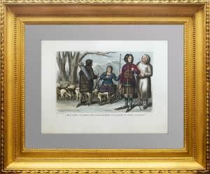 Костюмы народов Рос. империи. Камчадалы и самоеды. 1859г.