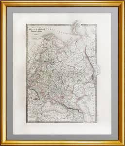 Генеральная карта Европейской России и Царства Польского. 1850г. Подарок руководителю