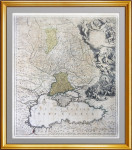 Русско-турецкая война. Крым. 1736г. Оттенс. Роскошная старинная карта - VIP подарок в кабинет