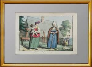 Свекровь и невестка. 1803г. Живописные представления манер, обычаев и забав русских