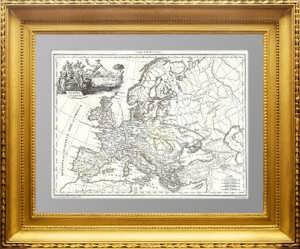 Европа античная (Europe Ancienne). Сарматия. 1812г. Лапье. Старинная карта купить