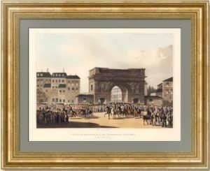 Русские войска в Париже. 1815г. Боуэр. Музейный экземпляр. Антикварный подарок