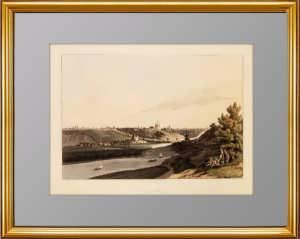 Смоленск. 1815г. Музейный экземпляр. Акватинта, акварель. Эксклюзивный подарок