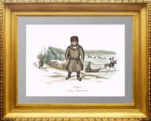 Российская империя. 1833г. Лапонцы - жители крайнего севера. Массард